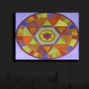 Nightlight Sconce Canvas Light | Jennifer Baird's Mandala II D