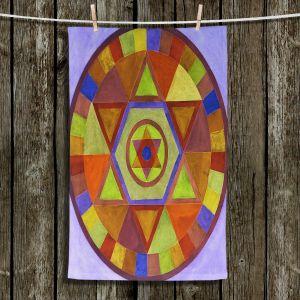 Unique Hanging Tea Towels | Jennifer Baird - Mandala II D | Patterns Abstract Star of David