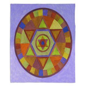 Decorative Fleece Throw Blankets | Jennifer Baird - Mandala II D