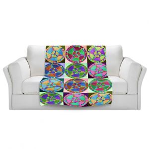 Artistic Sherpa Pile Blankets | Jennifer Baird Mandala Composite