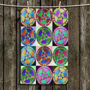 Unique Hanging Tea Towels | Jennifer Baird - Mandala Composite | Patterns Abstract