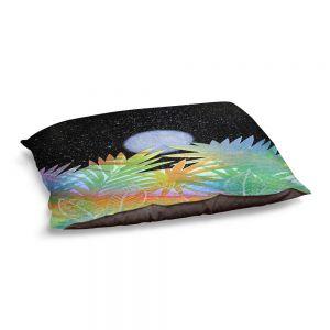 Decorative Dog Pet Beds | Jennifer Baird - Meditation Moonrise | Nature Landscape Moon Sky