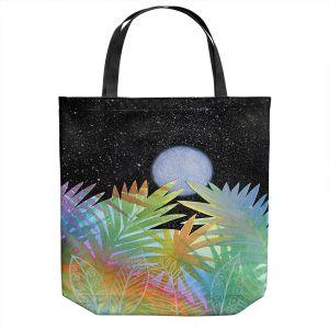 Unique Shoulder Bag Tote Bags | Jennifer Baird - Meditation Moonrise | Nature Landscape Moon Sky