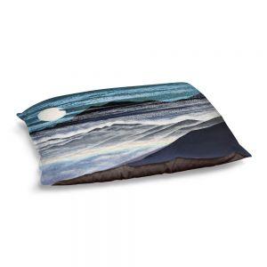 Decorative Dog Pet Beds | Jennifer Baird - Misty Mountains | Nature Landscape Mountains Moon