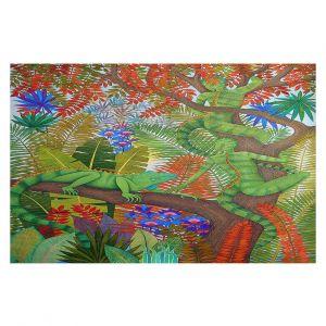 Decorative Floor Covering Mats | Jennifer Baird - Mystery Creatures 1 | hidden nature animals
