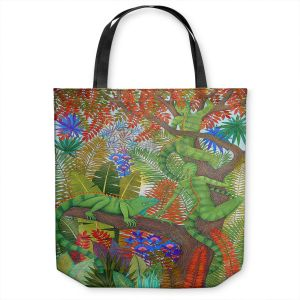 Unique Shoulder Bag Tote Bags | Jennifer Baird - Mystery Creatures 1 | hidden nature animals