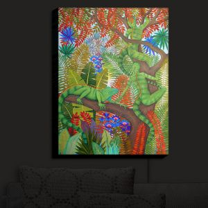 Nightlight Sconce Canvas Light   Jennifer Baird - Mystery Creatures 1   hidden nature animals