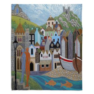 Decorative Fleece Throw Blankets | Jennifer Baird - Old Town and Rock A Nore | Old Town Shops River Boats People