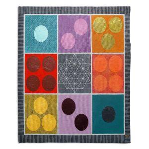 Artistic Sherpa Pile Blankets | Jennifer Baird - Path of Saturn 1 | pattern simple geometric circle