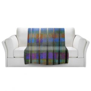 Artistic Sherpa Pile Blankets | Jennifer Baird - Rainy Season 1 | forest trees abstract simple
