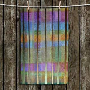 Unique Hanging Tea Towels | Jennifer Baird - Rainy Season 2 | forest trees abstract simple
