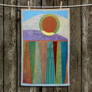 Unique Hanging Tea Towels | Jennifer Baird - Shaman | abstract human landscape