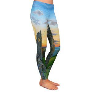 Casual Comfortable Leggings | Jennifer Baird - Sunset Hastings Castle 3 | landscape coast ruins