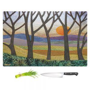 Artistic Kitchen Bar Cutting Boards | Jennifer Baird - Sunset Over the Hills