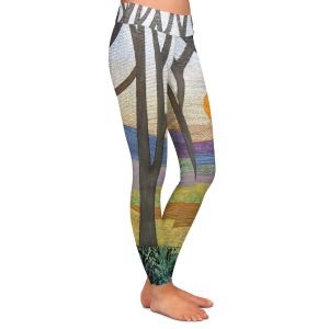 Casual Comfortable Leggings | Jennifer Baird Sunset Over the Hills