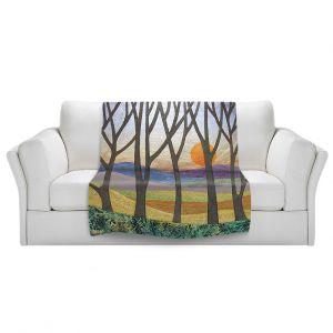 Artistic Sherpa Pile Blankets   Jennifer Baird Sunset Over the Hills