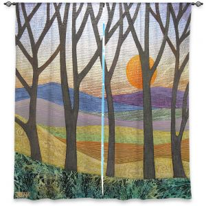 Unique Window Curtain Unlined 40w x 52h from DiaNoche Designs by Jennifer Baird - Sunset Over the Hills