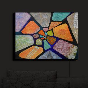 Nightlight Sconce Canvas Light | Jennifer Baird - Template | abstract shape rock stone