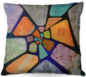 Throw Pillows Decorative Artistic | Jennifer Baird - Template | abstract shape rock stone