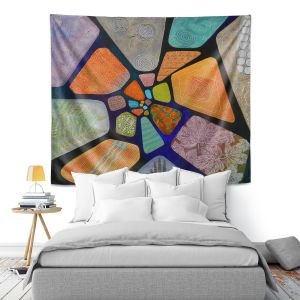 Artistic Wall Tapestry   Jennifer Baird - Template   abstract shape rock stone