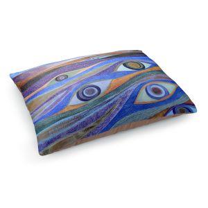 Decorative Dog Pet Beds | Jennifer Baird - Waking Up | eyes pattern wavy repetition