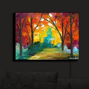 Nightlight Sconce Canvas Light | Jessilyn Park - Autumn Solitude | Autumn Nature Trees