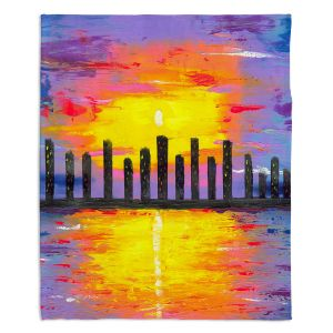 Decorative Fleece Throw Blankets | Jessilyn Park - City of Lights