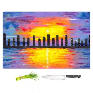 Artistic Kitchen Bar Cutting Boards | Jessilyn Park - City of Lights
