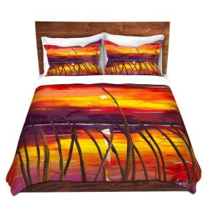 Artistic Duvet Covers and Shams Bedding | Jessilyn Park - Evening Lake Butler