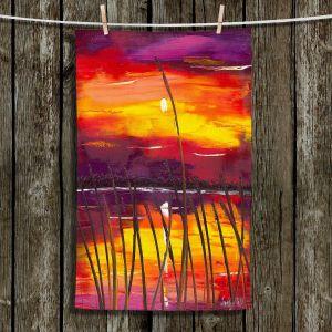 Unique Hanging Tea Towels | Jessilyn Park - Evening Lake Butler | Lake Sunset Nature