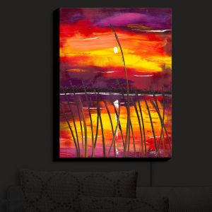 Nightlight Sconce Canvas Light | Jessilyn Park - Evening Lake Butler | Lake Sunset Nature