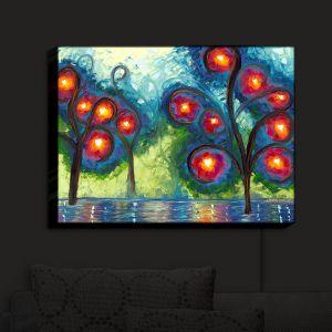 Nightlight Sconce Canvas Light   Jessilyn Park - Hearts Afire   Trees Landscapes