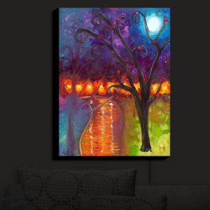 Nightlight Sconce Canvas Light | Jessilyn Park - I Think Were Alone Now | Trees Landscapes