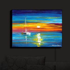 Nightlight Sconce Canvas Light | Jessilyn Park - Lost at Sea | Boats Ocean