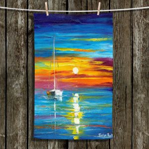 Unique Hanging Tea Towels | Jessilyn Park - Lost at Sea | Boats Ocean