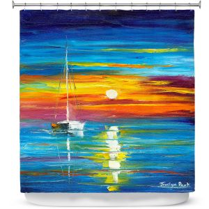 Premium Shower Curtains | Jessilyn Park - Lost at Sea