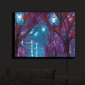 Nightlight Sconce Canvas Light | Jessilyn Park - Midnight Soliliquy | Trees Moonlight Landscapes