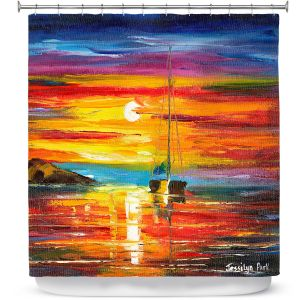 Premium Shower Curtains | Jessilyn Park - Playa del Sol