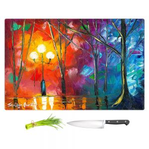 Artistic Kitchen Bar Cutting Boards | Jessilyn Park - Rainy Rendevous