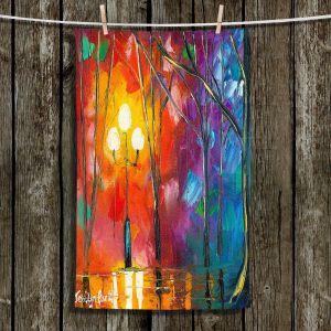 Unique Hanging Tea Towels | Jessilyn Park - Rainy Rendevous | Landscapes Colorful