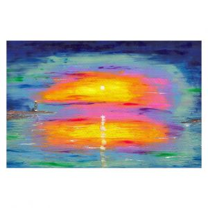 Decorative Floor Coverings | Jessilyn Park - Sunrise at Lighthouse