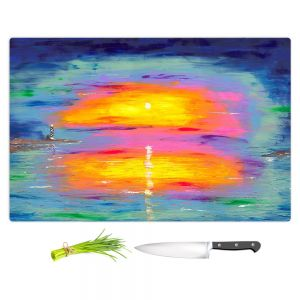 Artistic Kitchen Bar Cutting Boards | Jessilyn Park - Sunrise at Lighthouse