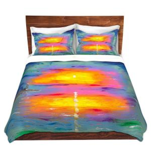 Artistic Duvet Covers and Shams Bedding | Jessilyn Park - Sunrise at Lighthouse