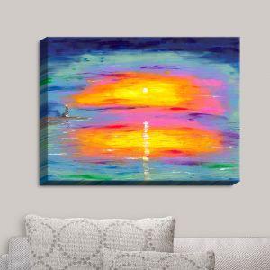 Decorative Canvas Wall Art | Jessilyn Park - Sunrise at Lighthouse