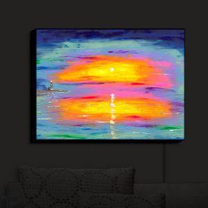 Nightlight Sconce Canvas Light | Jessilyn Park - Sunrise at Lighthouse | Sunrise Ocean Lighthouse
