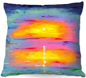 Throw Pillows Decorative Artistic | Jessilyn Park - Sunrise at Lighthouse