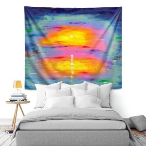Artistic Wall Tapestry | Jessilyn Park - Sunrise at Lighthouse