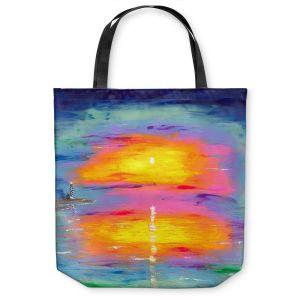 Unique Shoulder Bag Tote Bags | Jessilyn Park - Sunrise at Lighthouse