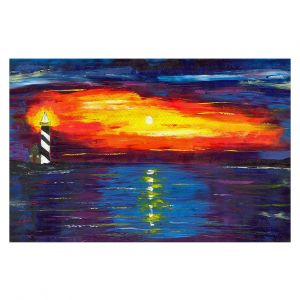 Decorative Floor Coverings | Jessilyn Park - Sunset at Lighthouse