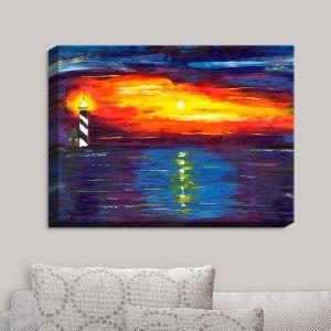 Decorative Canvas Wall Art | Jessilyn Park - Sunset at Lighthouse